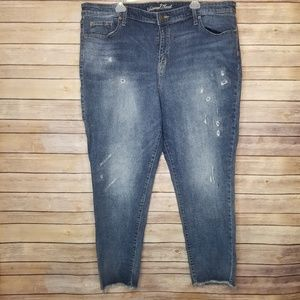 NWOT plus size Threshold distressed jeans